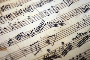 Jo då, denna bild föreställer faktiskt noter nedtecknade av Mozart, men från hans barndom. Foto: TT