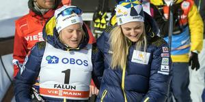 Hanna Falk och Stina Nilsson. Foto: Ulf Palm/TT