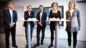 Camilla Broo, längst till höger, är ny tillförordnad stadsdirektör i Södertälje.