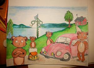 Björnungen Junior är inte förväntansfull, han vill vara hemma i Dalarna och i sin hemort Orsa.