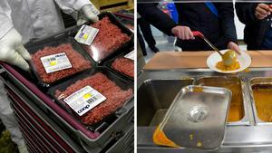 Skolornas normaliserande av köttätandet måste upphöra, menar skribenten. Bilder: Claudio Bresciani/TT / Jessica Gow/TT
