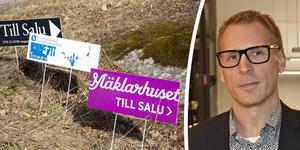 Huspriserna varierar mellan orterna, menar fastighetsmäklaren Jonny Persson. Bilder: TT och Annelie Ledin