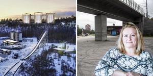 Örnboet och bilhänget vid Rondellplan – två vattendelare i Ö-vik.