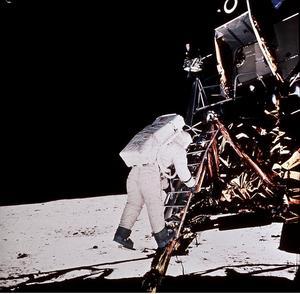 Ett halvsekel har gått sedan människan erövrade månen. Bild: TT