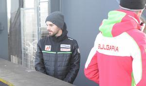 Bulgariske världscuphopparen Vladimir Zografski var på plats på Lugnet på fredagen.