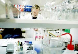 Christer Näsström på Hjortens laboratorium gör bakteriella vattenanalyser bland annat åt Östersunds kommun.