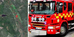 E 45:an är helt avstängd på grund av olyckan, uppgav räddningstjänsten vid klockan 13.20.