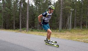 Alfred Eriksson, Dala-Järna, tog SM-guld i sprint. Foto: Håkan Blidberg