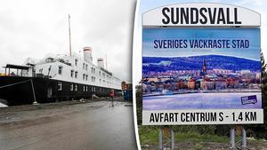 Det är stor skillnad på Sundsvall före och efter hotellbåten Astoria kom in i hamnen, menar skribenten. Bilder: Eva-Lena Olsson / Privat
