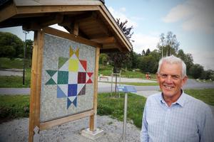 Lars Sjödin har varit en av eldsjälarna bakom upprustning av genomfarten i Bollstabruk.