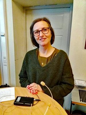 Moa Beskow får Kulturarvspriset i Göran Gelottes anda. Foto: Kerstin Ekberg