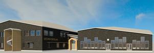 Bygget av nya Södra skolan startar i höst och pågår fram till sommaren 2020. Illustration: Falugruppen