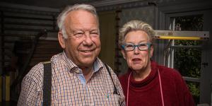 Björn och Birgitta Kalén har jobbat med bokbinderi väldigt länge. Björn i 45 år, Birgitta i 25 år.
