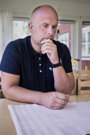 Martin Johansson, kyrkogårdschef vid Roslagens östra pastorat.