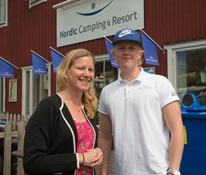 Linda Näslund och Felix Ekholm berättade om sommarplanerna hos Nordic Camping & Resort vid Nickstabadet.