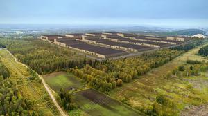 Så har ser skissen över den planerade batterifabriken i Skellefteå ut. Foto: Northvolt