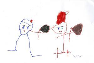 Gusten 5år från Gävle, har skickat en julhälsning.