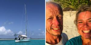 Pål Dufva och Lina Fredin har snart varit ute ett år med deras segelbåt Svea. Paret bor i Duved i Jämtland, men Pål är uppvuxen i Örnsköldsvik och Lina i Hudiksvall.