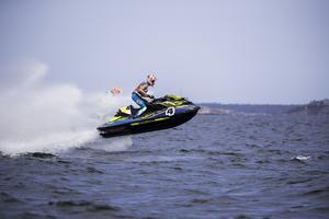 Samuel Johansson tävlade med sin Sea Doo i RA-klassen.  Foto: Peter Ohlsson/Pickla
