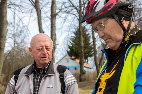 Lars-Åke Högfors och Christer Berggren är hängivna turfare.