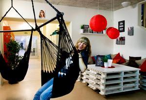 Susanne Lövgren är med och leder arbetet för global classroom.Foto: Mårten Englin