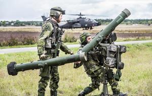 I Försvarsövningen Aurora 17 på Gotland deltog militär från Sverige, USA, Frankrike, Finland och Estland.Foto: Tomas Oneskog/SvD/TT
