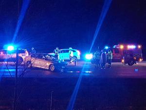 Olyckan inträffade strax efter klockan 20.30 på tisdagskvällen. Foto: Läsarbild