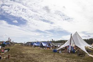 Sammanlagt 3 000 personer befinner sig under veckan på Moheds flygfält under Prisma 2019.