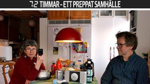 Under stormen Ivar för några år sedan bodde Anita och Gustaf Forssell i sin fjällstuga i en vecka utan el och vatten.