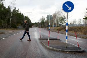 Fredrik Horn vid passagen vid Järvstakrokens infart.
