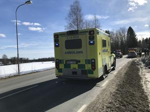 Räddningstjänsten på platsen.