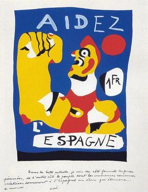 Den katalanske bonden knyter näven mot Franco.