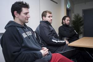 En legendarisk trio: Dan Hinote, Markus Näslund och Peter Forsberg. Bild: Bildbyrån