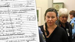 Åtskilliga sidor med förklaringar om varför hon inte kan vara gärningsman och chaufför har hon lämnat in till både hovrätt och Högsta domstolen.