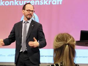 Infrastrukturminister Tomas Eneroth (S) på Järnvägsforum Norr i Åre.
