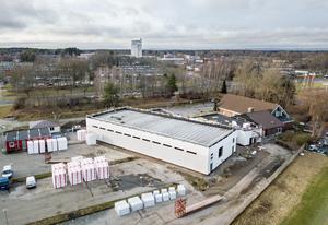 Örebro moské under uppbyggnaden efter branden.