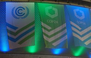 FN:s klimattoppmöte, COP24 , äger rum i staden Katowice i Polen. Foto: Frank Jordans/AP Photo