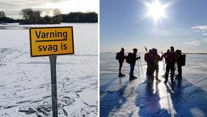 Kontrollera isen och all utrustning innan du ger dig iväg.Bild: Johan Nilsson/TT. Lars Pehrson.