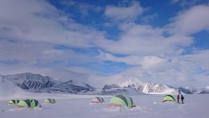 Union Glacier. Härifrån utgår många expeditioner. Foto: Joel Johansson