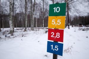 Det finns spår i alla längder vid Nordansjö.