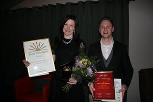 Emelie Wester och Christoffer Tiurinen på Säters Cykel & Motor utsågs till Årets företagare i Säter och går vidare till regiontävlingen.Foto: Per Peterson