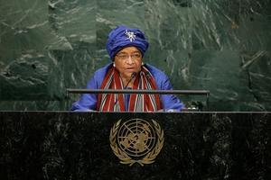 Ellen Johnson Sirleaf.Bild:  Frank Franklin II