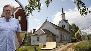 Under pågående åtgärder håller Los kyrka stängt, berättar Jan Bonander, kyrkoherde.