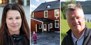 Krokoms kommunalråd Malin Bergman (C), Kaxås skola och it-miljardären Dan Olofsson. Fotmontage: Anders Olsson/Karin Bångman