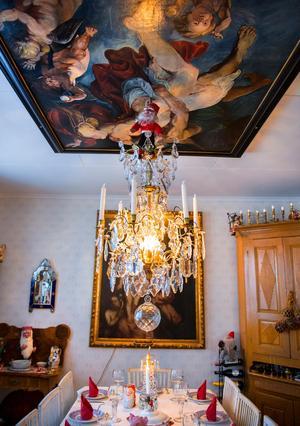 Takmålningen är en kopia av Rubens