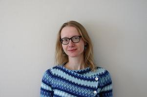 Esther Schwarzrock har flyttat hit från Tyskland för att börja arbeta som musiker i Säterbygdens församling.Foto: Thomas Bernhardt