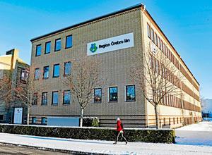 Eklundavägen 1. Här är tanken att Region Örebro läns centrala administration och politiska ledning ska flytta samman. Övriga lokaler längs Eklundavägen kommer sannolikt att säljas, menar regionrådet Andreas Svahn (S).