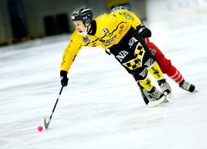 Erik Säfström i ÖSK-tröjan. Året är 2010, och gulsvart möter Kalix hemma i Behrn arena.Bild: Pavel Koubek