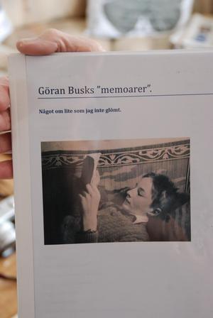 Göran självbiografi, som bygger på hans dagboksanteckningar sedan början av femtiotalet.