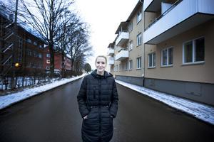 Cathrine Norén tycker om snö.